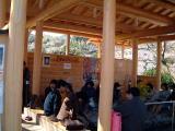 河津桜祭りの足湯