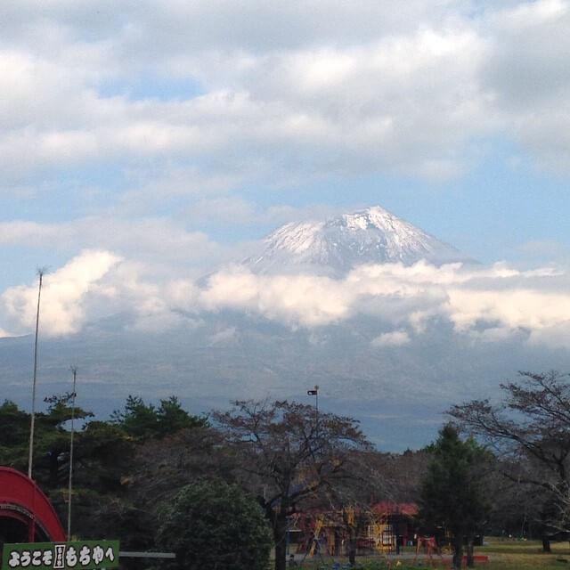ドライブインもちやからの富士山