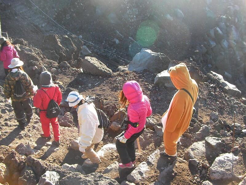 富士登山下山風景