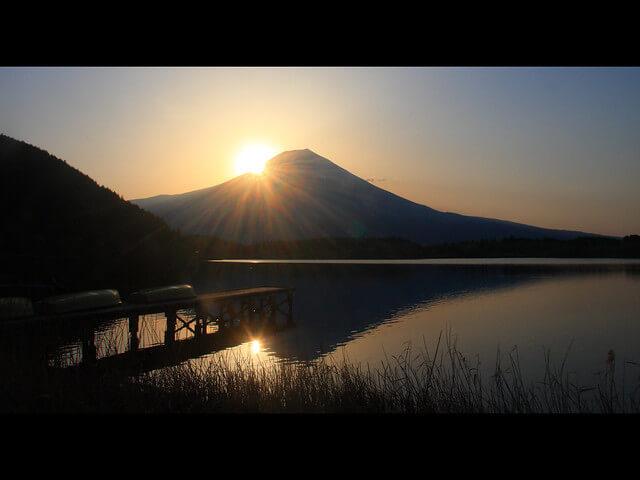 田貫湖のダイヤモンド富士
